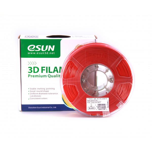 ABS пластик 1.75 1кг Esun красный