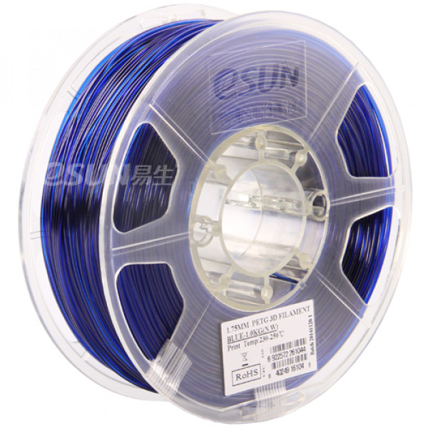 PETG пластик 1.75 1кг Esun синий