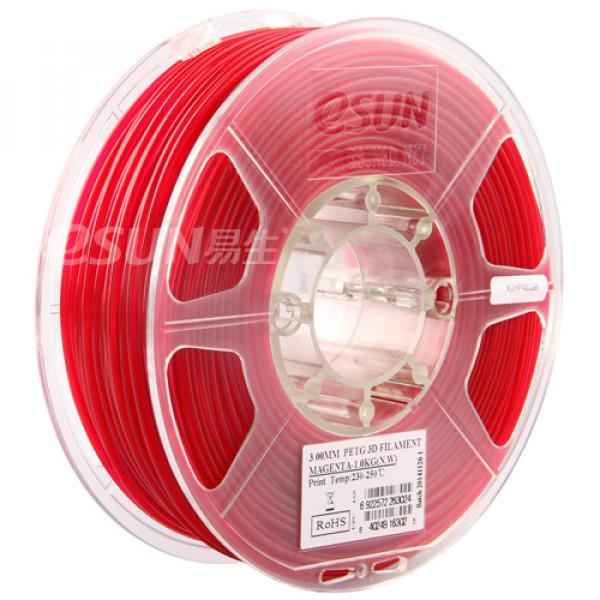 PETG пластик 1.75 1кг Esun пурпурно-красный