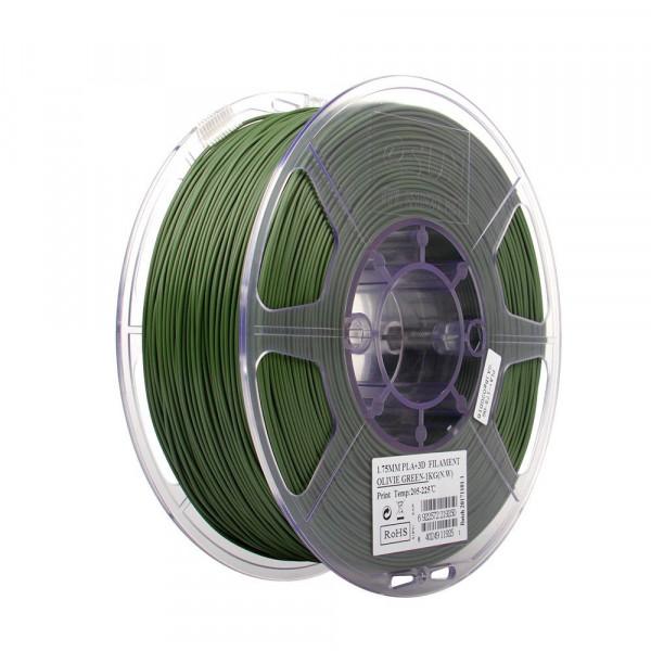 PLA+ пластик 1.75 1кг Esun оливковый